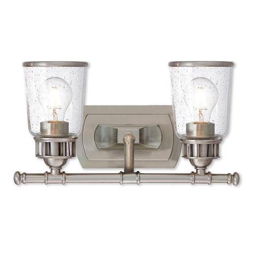 Livex Lighting Lawrenceville Brushed Nickel Two-Light Bath Vanity