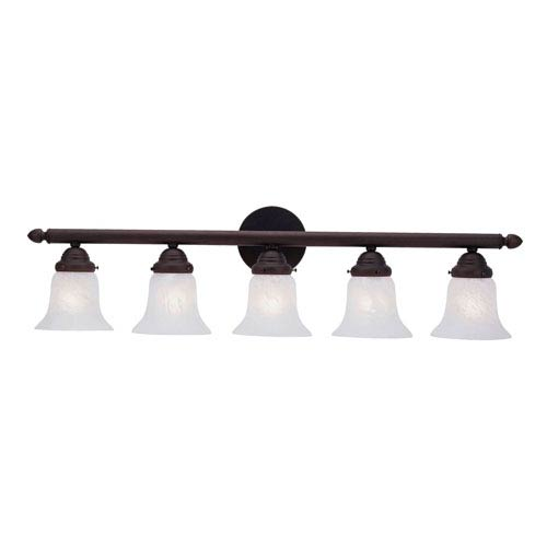 Livex Lighting Home Basics Five-Light Bronze Bath Fixture
