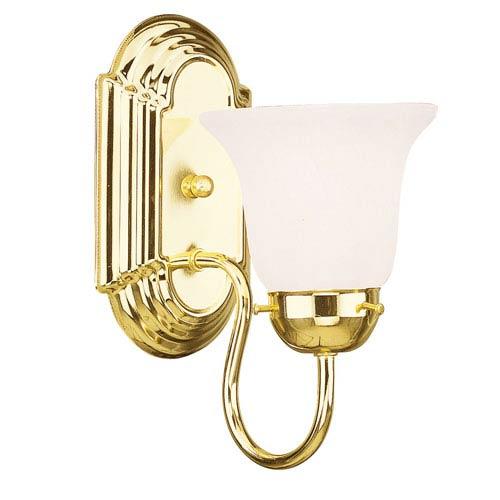 Home Basics Polished Brass One-Light Bath Light