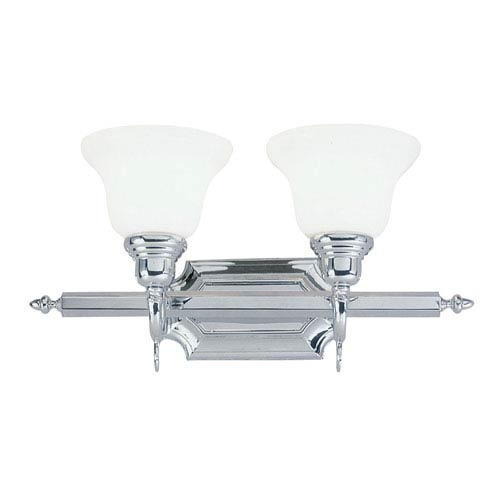 Livex Lighting French Regency Two-Light Chrome Bath Fixture