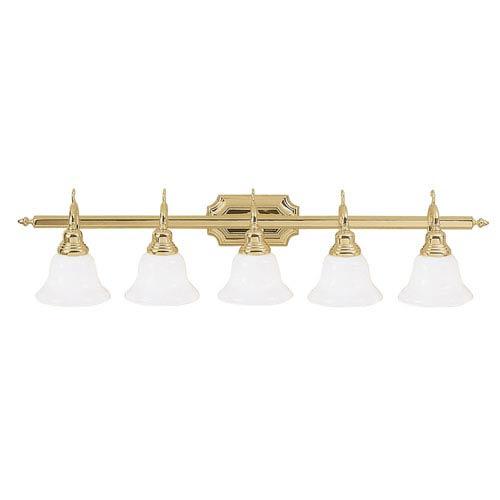 Livex Lighting French Regency Polished Brass Five-Light Bath Fixture