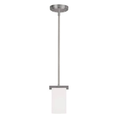 Astoria Brushed Nickel 5-Inch One-Light Mini Pendant