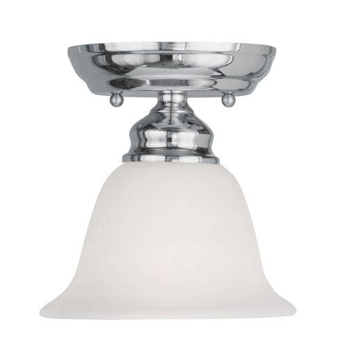 Essex Chrome 6.5-Inch One-Light Semi Flush Mount