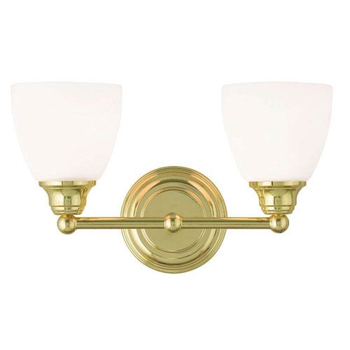 Somerville Polished Brass 15-Inch Two-Light Bath Light