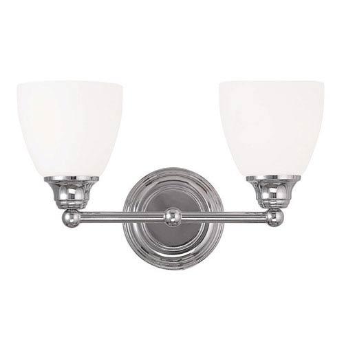 Somerville Chrome 15-Inch Two-Light Bath Light