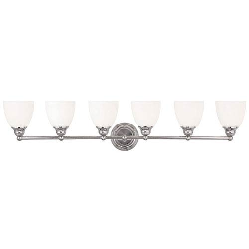Somerville Chrome 42-Inch Six-Light Bath Light