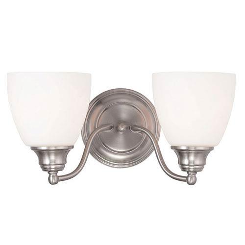 Livex Lighting Somerville Brushed Nickel 15.5-Inch Two-Light Bath Light