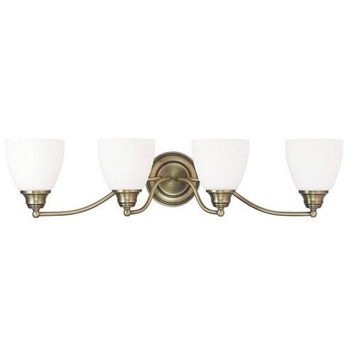 Livex Lighting Somerville Antique Brass 30-Inch Four-Light Bath Light