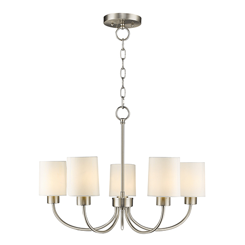 Livex Lighting Sussex Brushed Nickel Five Light Chandelier