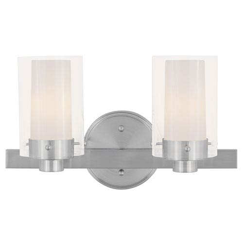 Livex Lighting Manhattan Two-Light Brushed Nickel Bath Fixture