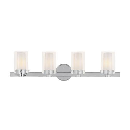 Livex Lighting Manhattan Chrome Four-Light Bath Fixture