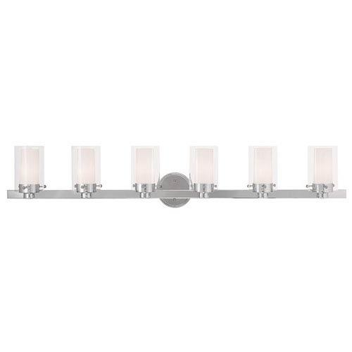 Manhattan Chrome 47.5-Inch Six-Light Bath Light