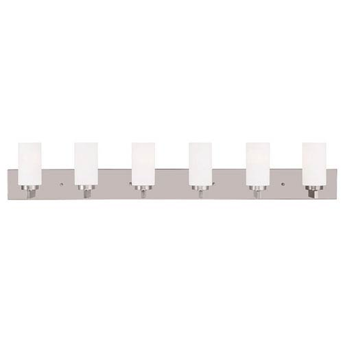 West Lake Brushed Nickel 47-Inch Six-Light Bath Light