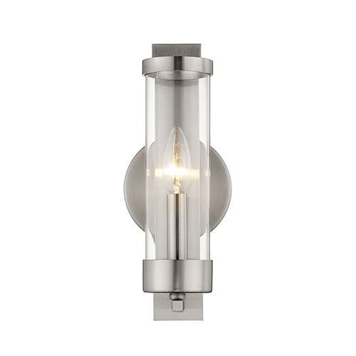 Castleton Brushed Nickel 5-Inch One-Light Bath Sconce
