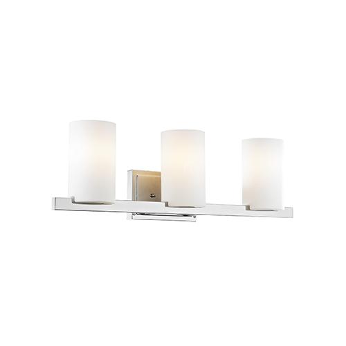 Astoria Chrome 26-Inch Three-Light Bath Light
