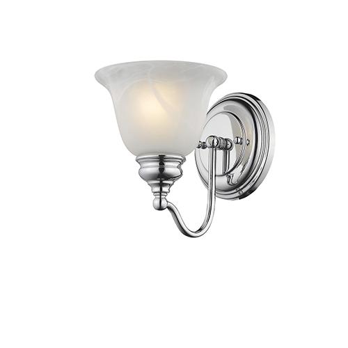 Essex Chrome 6.5-Inch One-Light Bath Light