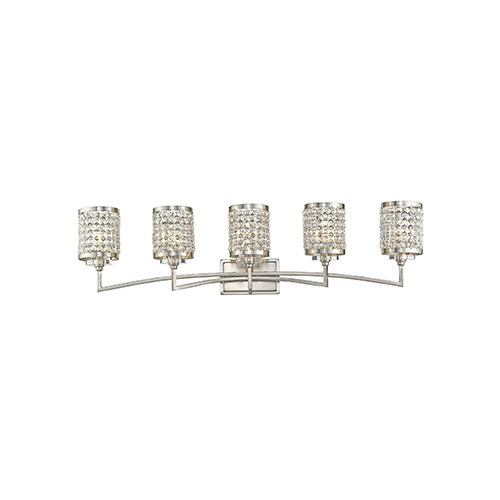 Grammercy Brushed Nickel 42.5-Inch Five-Light Bath Light