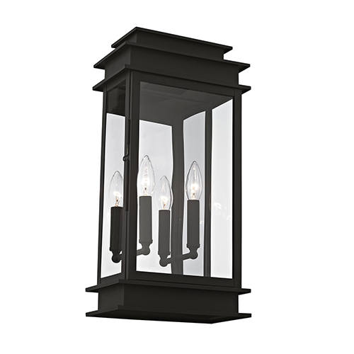 Princeton Black Two-Light 19-Inch Wall Lantern