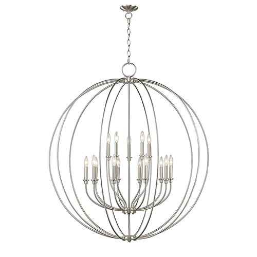 Brushed Nickel Chandeliers Contemporary Lighting