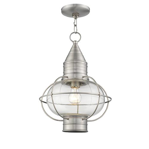 Newburyport Brushed Nickel One-Light 12-Inch Lantern