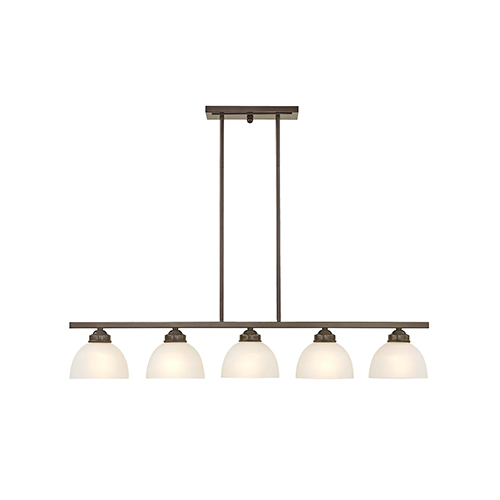 Somerset English Bronze 6.5-Inch Five-Light Linear Chandelier