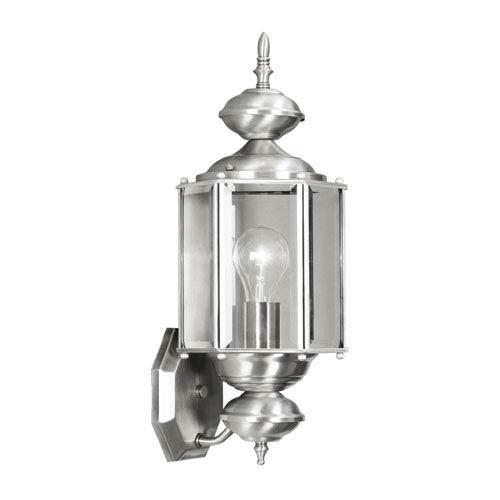 Outdoor Basics Brushed Nickel Outdoor Wall Lantern