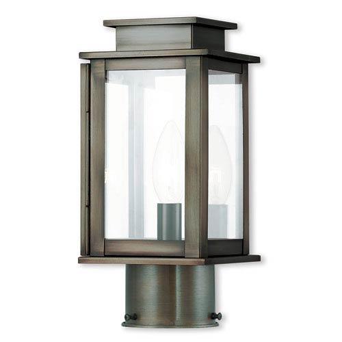Princeton Vintage Pewter One-Light 5-Inch Post Lantern