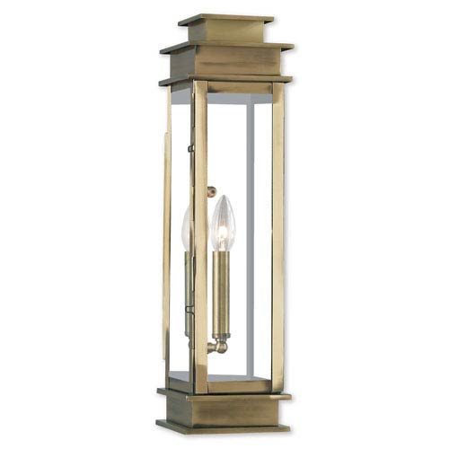 Princeton Antique Brass One-Light 20-Inch Wall Lantern