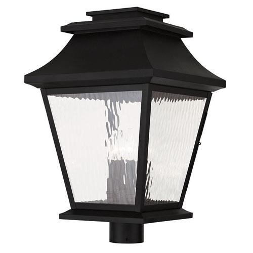 Hathaway Black 14-Inch Four-Light Outdoor Post Lantern