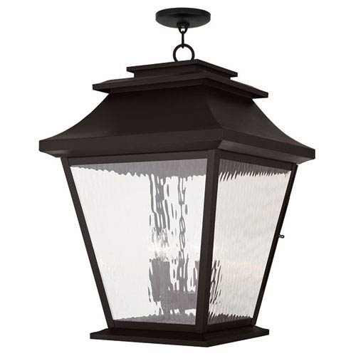 Hathaway Bronze 18-Inch Five-Light Outdoor Chain Hang Pendant