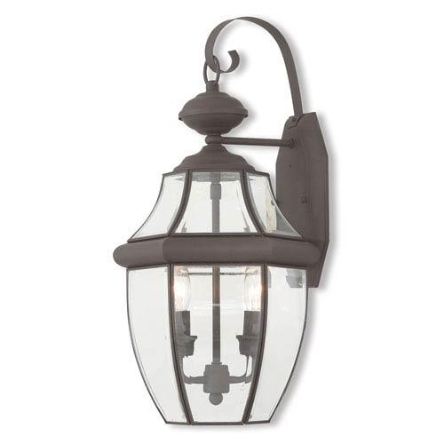 Livex Lighting Monterey Bronze Two-Light Outdoor Wall Lantern