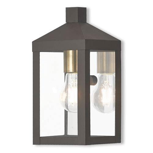 Nyack Bronze 5-Inch One-Light Outdoor Wall Lantern