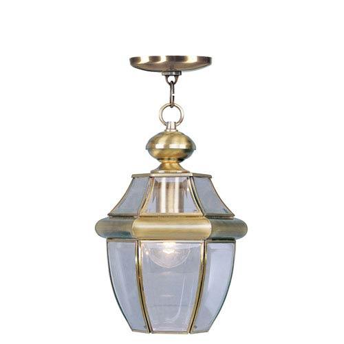 Monterey Antique Brass One-Light Outdoor Pendant