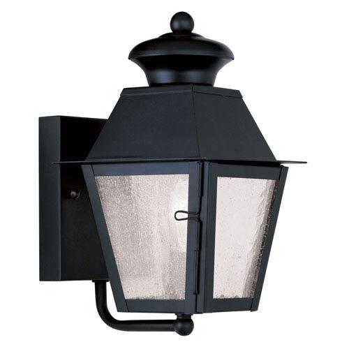 Livex Lighting Mansfield Black Outdoor Wall Lantern