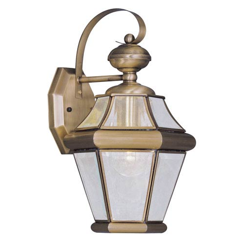 Georgetown Antique Brass One-Light 15-Inch Outdoor Wall Lantern