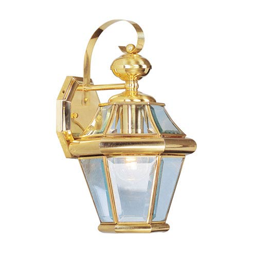 Georgetown Polished Brass One-Light Outdoor Fixture