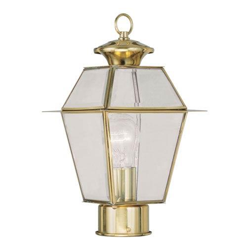 Livex Lighting Westover Polished Brass Outdoor Post Mount