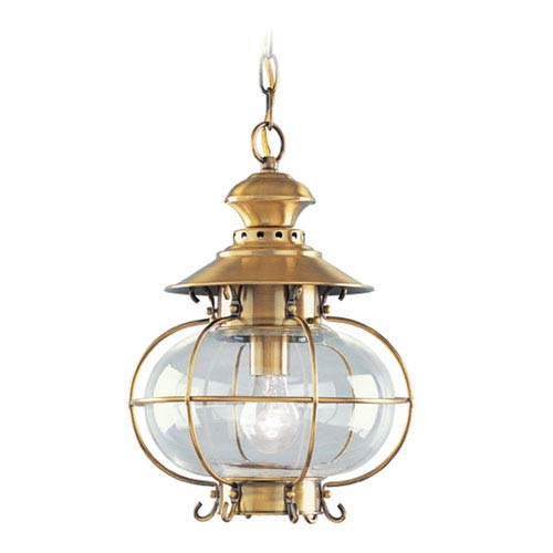 Harbor Flemish Brass One-Light Outdoor Fixture