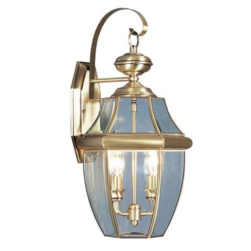 Monterey Antique Brass Two-Light Outdoor Fixture
