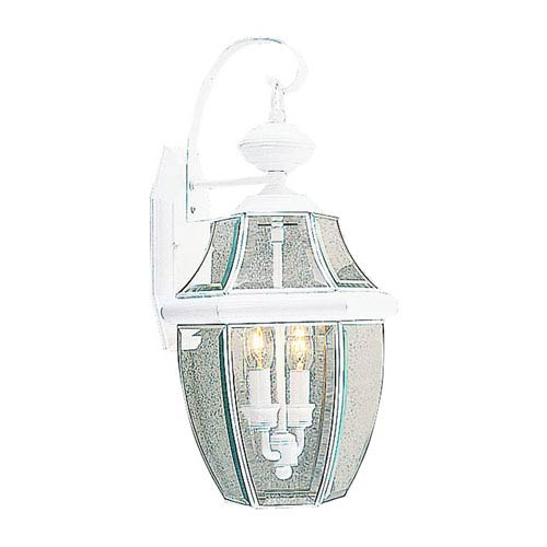 Monterey White Two-Light Outdoor Fixture