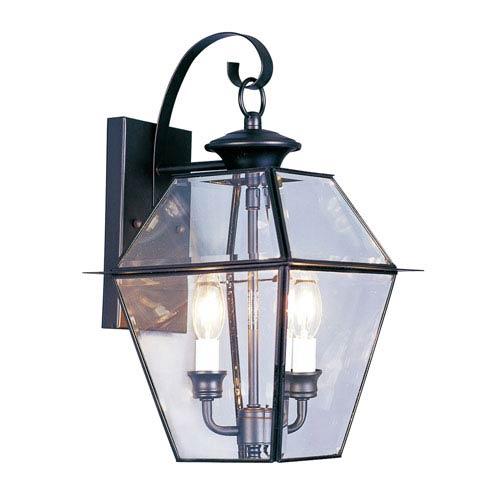 Livex Lighting Westover Black Two-Light Outdoor Fixture