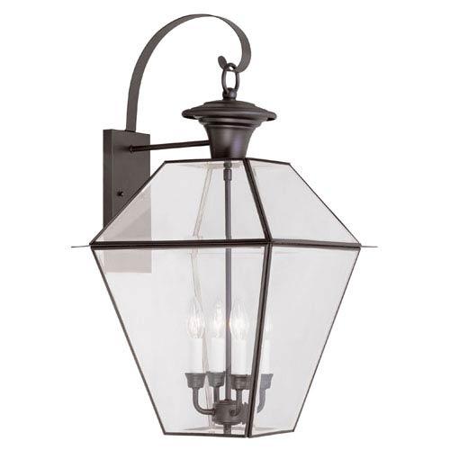 Westover Bronze Four-Light Outdoor Wall Lantern