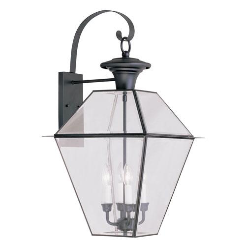 Westover Black Four-Light Outdoor Wall Lantern