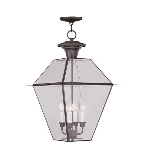 Livex Lighting Westover Bronze Four-Light Outdoor Chain Hang