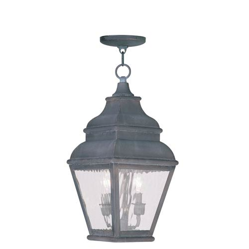 Exeter Charcoal Two-Light Outdoor Pendant