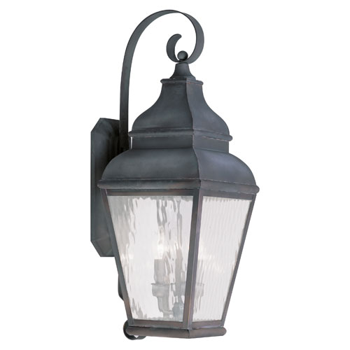 Exeter Charcoal Three-Light Outdoor Wall Lantern