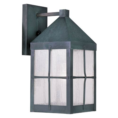 Livex Lighting Brighton Hammered Charcoal Outdoor Wall Lantern