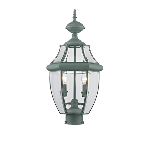Monterey Verdigris Two-Light Outdoor Fixture