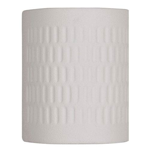 Textured White 8.5-Inch One-Light Outdoor Wall Lantern with Open Top