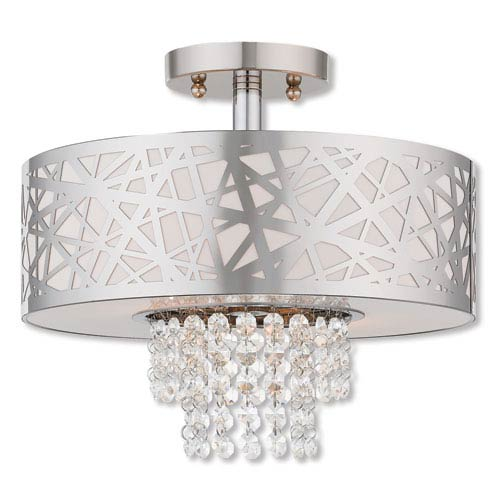 Allendale Polished Chrome 13-Inch Two-Light Ceiling Mount